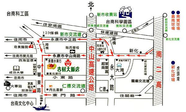 吉村大饭店(台南市(原台南县))地图