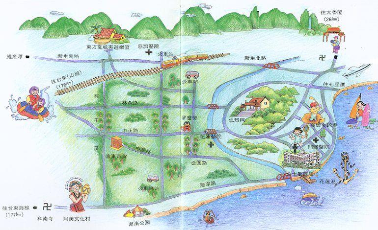 亚士都饭店(花莲县)地图