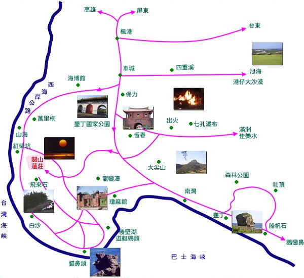 关山莲庄(屏东垦丁)地图