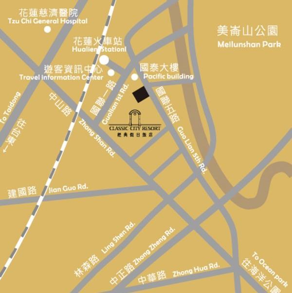 经典假日饭店(花莲县)地图
