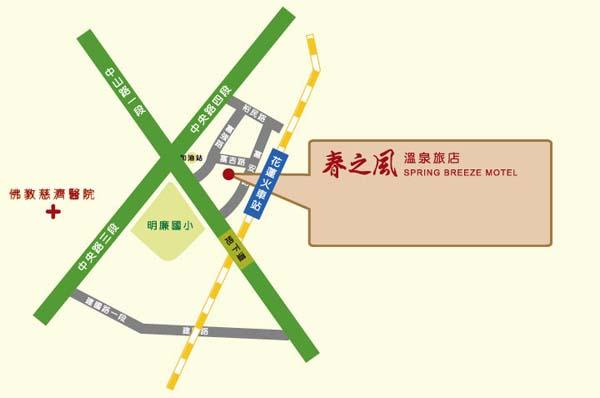 松之风温泉旅店(花莲县)地图