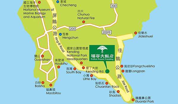 垦丁福容大饭店地图