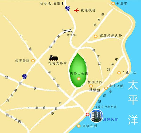 海传民宿(花莲县)地图