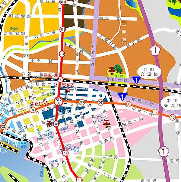 假期商务饭店(高雄中正店)地图