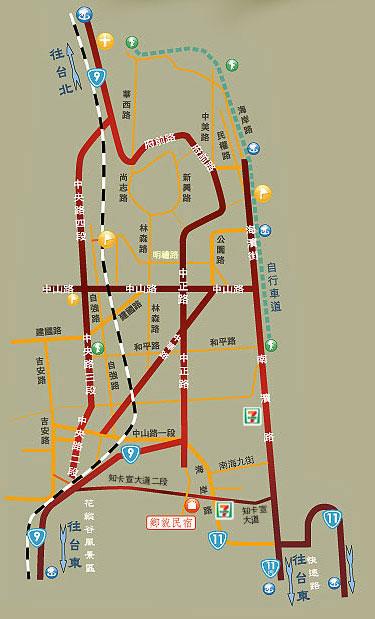 乡貌休闲民宿(花莲县)地图