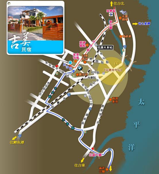 吉美民宿(花莲县)地图