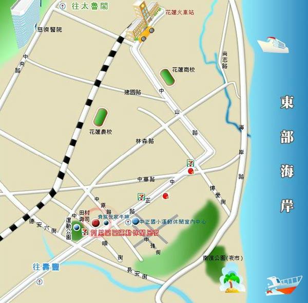 阿里巴巴运动休闲民宿(花莲县)地图