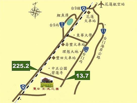 丰田安琪花园(花莲县)地图