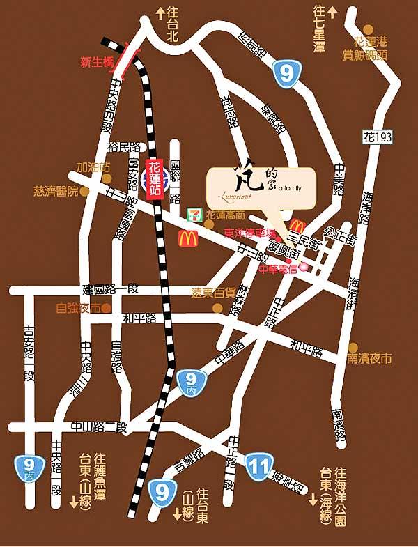 芃的家民宿(花莲县)地图