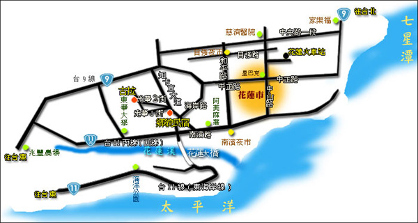 古拉民宿(花莲县)地图
