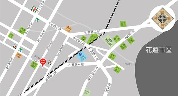 吉野精栈民宿(花莲县)地图