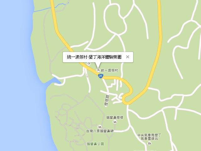 統一渡假村-墾丁海洋體驗樂園-交通地圖