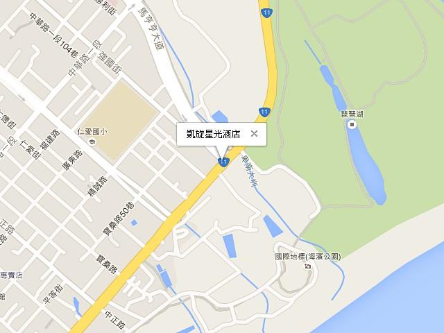 凱旋星光酒店-交通地圖