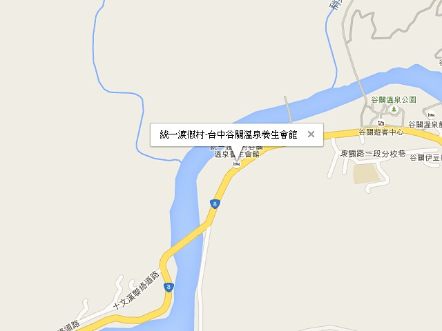 統一渡假村-台中谷關溫泉養生會館-交通地圖