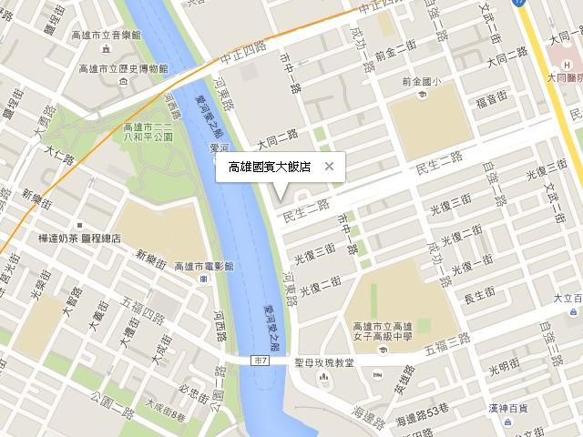 高雄國賓大飯店-交通地圖