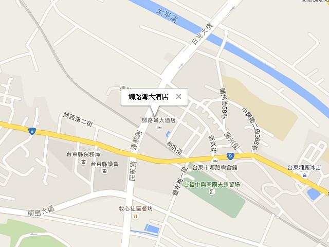娜路彎大酒店-交通地圖