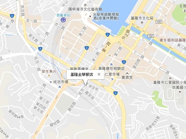基隆金華飯店-交通地圖