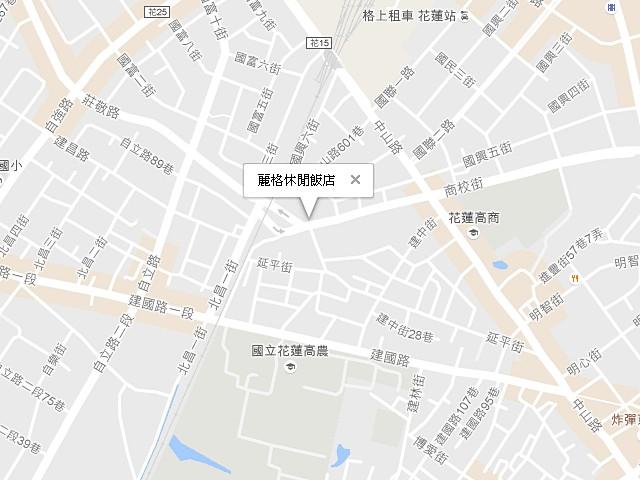 麗格休閒飯店-交通地圖