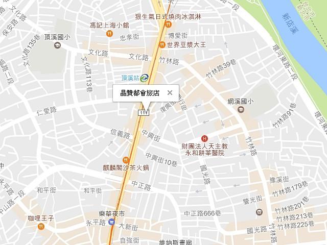 晶贊都會旅店-交通地圖