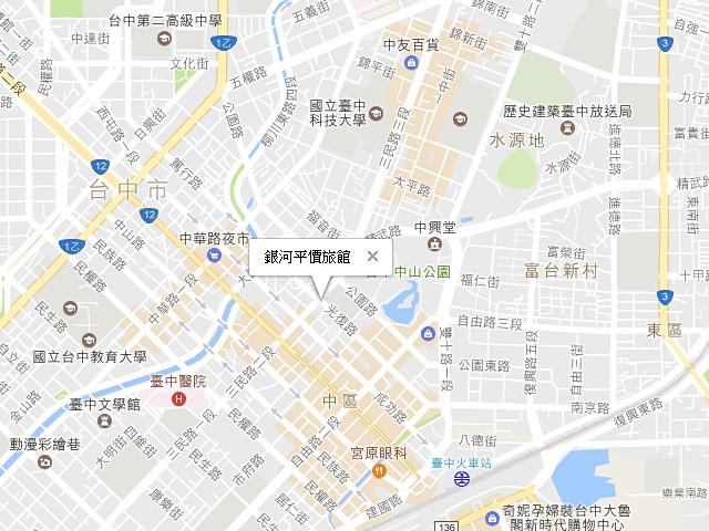 銀河平價旅館-交通地圖
